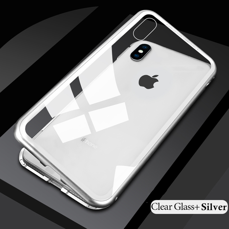 HTB1CCXsKx9YBuNjy0Ffq6xIsVXar - GETIHU Metal Magnetic Case for iPhone XR XS MAX X 8 Plus 7 +Tempered Glass Back Magnet Cases Cover for iPhone 7 6 6S Plus Case