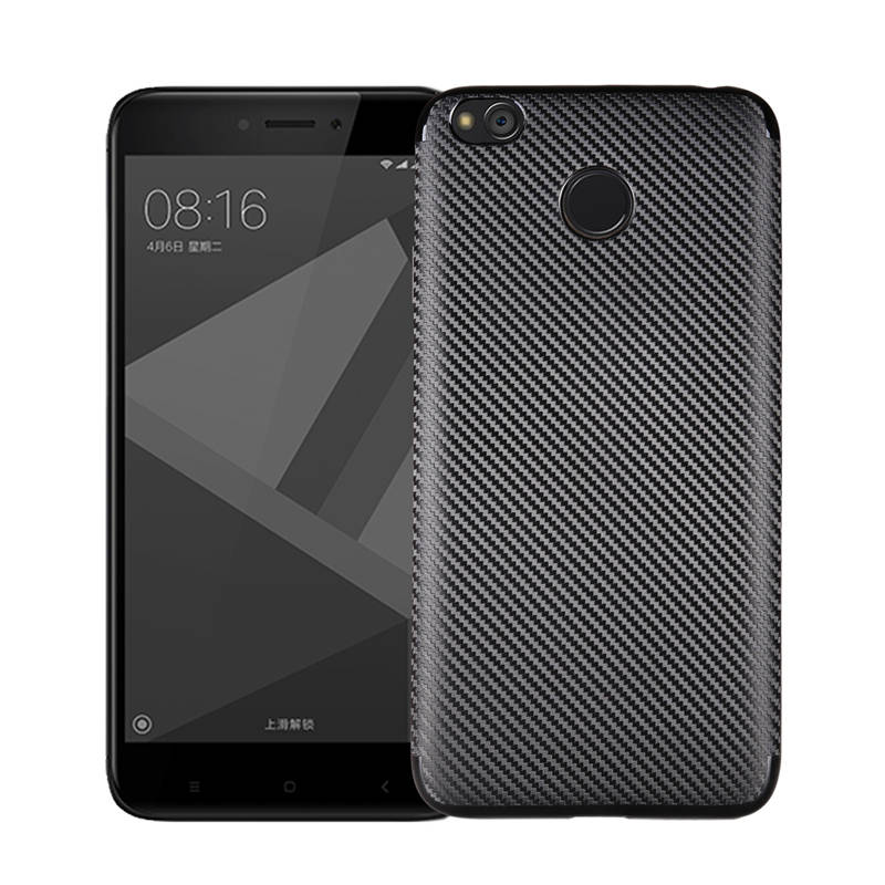 Luxury Carbon Fiber Soft TPU Cover For Xiaomi Redmi 4X 4A 4 Pro Shockproof Case For Xiaomi Redmi 4A 4X 4 Prime Case Coque Fundas in Fitted Cases from Cellphones Telecommunications