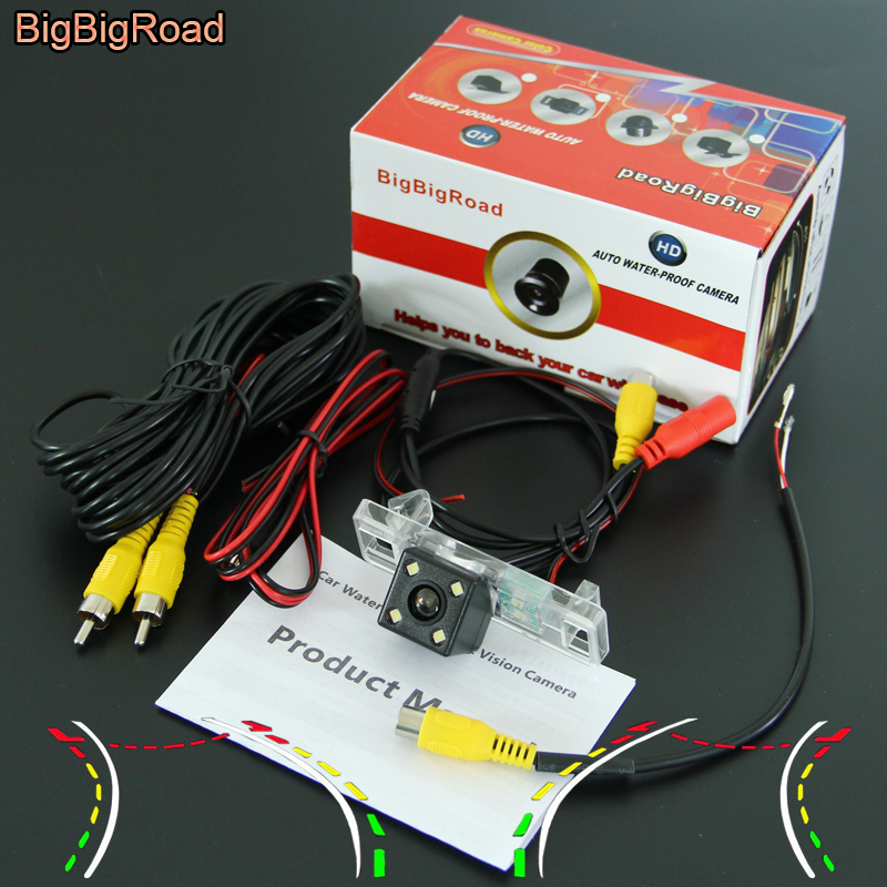 BigBigRoad Car Intelligent Track Rear View Camera Connect to Original Screen For Peugeot 508 2011 2012 2013 2014 2015 2016