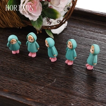 5PCS Set Mini Girl Fairy Garden Figurines Miniature Resin Crafts Ornament Gnomes Moss Terrariums Home Decorations