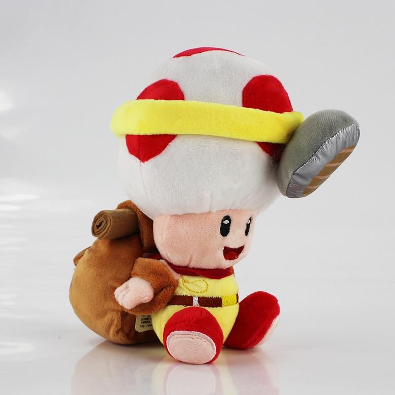 "Plush Red Super Mushroom Soft Toy Stuffed Animal Doll 8.5/"" NEW Super Mario Bros"
