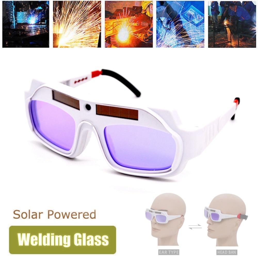 66781fa363 Oscurecimiento Auto Solar Máscara de Soldadura casco ojos gafas de soldador  gafas Auto oscurecimiento