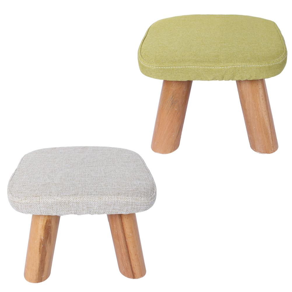 US $46 64 |Cute Seat Round Ottoman Stool Small Wooden Soft Rest taboret  Chair Seat Shoe changing stool Gift Home Decor-in Cushion from Home &  Garden