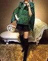 Tweed de lã mulheres jaqueta frete grátis