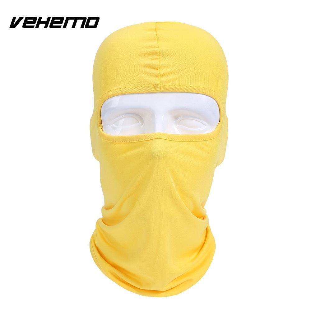 Vehemo аксессуары для улицы полная мотоциклетная маска для защиты лица шапки унисекс 14 цветов Практичная Балаклава лайкра защита удобный - Цвет: yellow