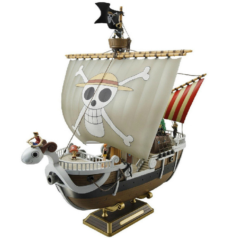 Anime One Piece Meryl Pirate ship Figure 35cm Meryl Boat ship Pirate ship PVC Action Figure Collectible Model Toy Christmas Gift new hot christmas gift 21inch 52cm bearbrick be rbrick fashion toy pvc action figure collectible model toy decoration