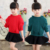 Suéter para Las Niñas Sólido Géneros de Punto prendas de Vestir Exteriores del Otoño de Los Niños Camisa de Los Niños Ropa de Niños Ropa de Abrigo Con Capucha Vestidos Bola de Pelo 10