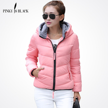 Pinky Is Black 2017 Snow wear wadded jacket female autumn and winter jacket women slim short jacket outerwear winter coat women