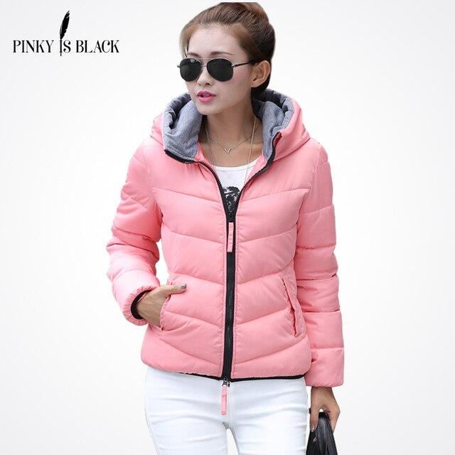 c9ce2df2502a4 Pinky Is Black 2018 Snow wear wadded chaqueta femenina Otoño e Invierno  chaqueta mujer slim Chaqueta