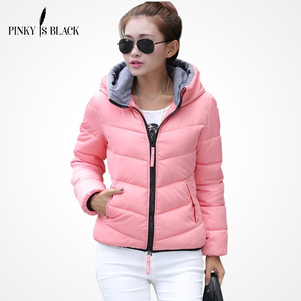 Pinky Is Black 2019 Snow wear wadded jacket female autumn and winter jacket women slim short jacket outerwear winter coat women
