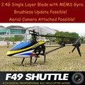 La más nueva ayuda Aérea RC helicóptero MJX F49 2.4G 4CH RC Helicóptero con 1500 mAh batería de Actualización Del Sistema de Motor Sin Escobillas mjx f45