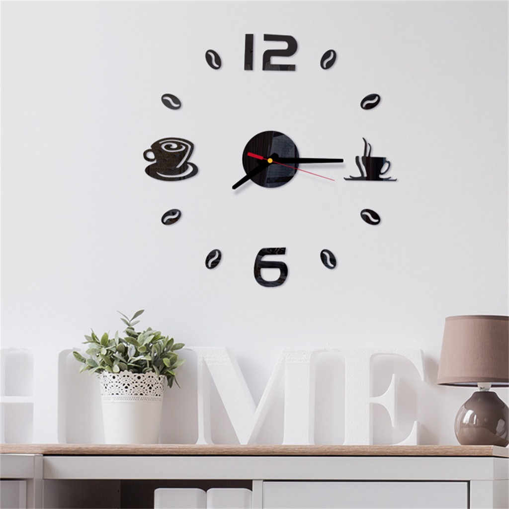 Digital Wall Clock Sticker Modern Design Clock DIY Clock Wall Kitchen Clock Living Room Home Decor diy Z307