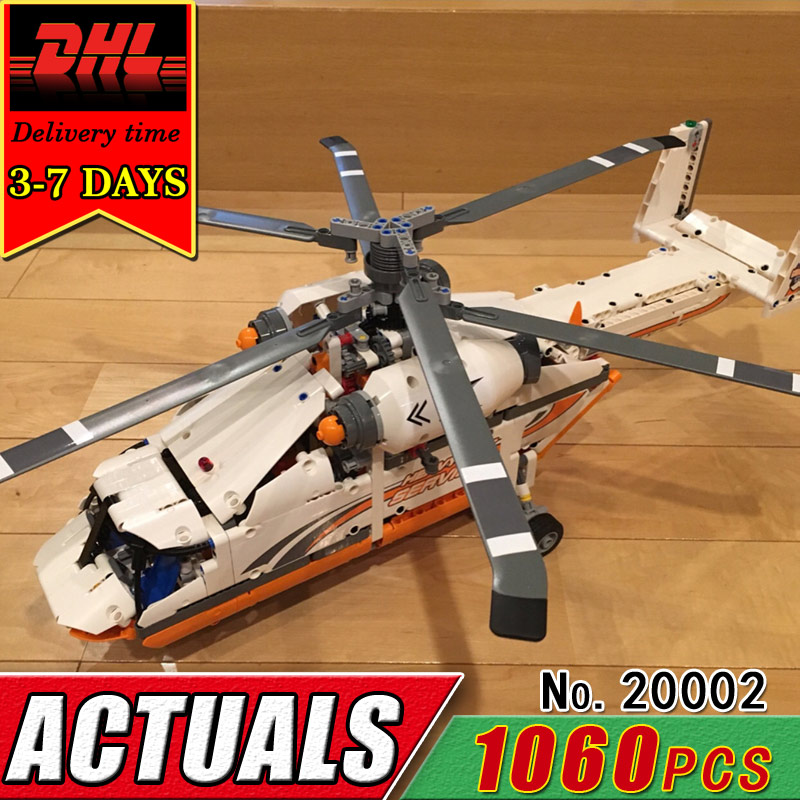 DHL LEPIN 20002 Technic Series Electric Mechanical Group High Load Helicopter Compatible 42052 Building Block Children Brick Toy new lepin 20002 technology series mechanical group high load helicopter blocks compatible with 42052 boy assembling toys