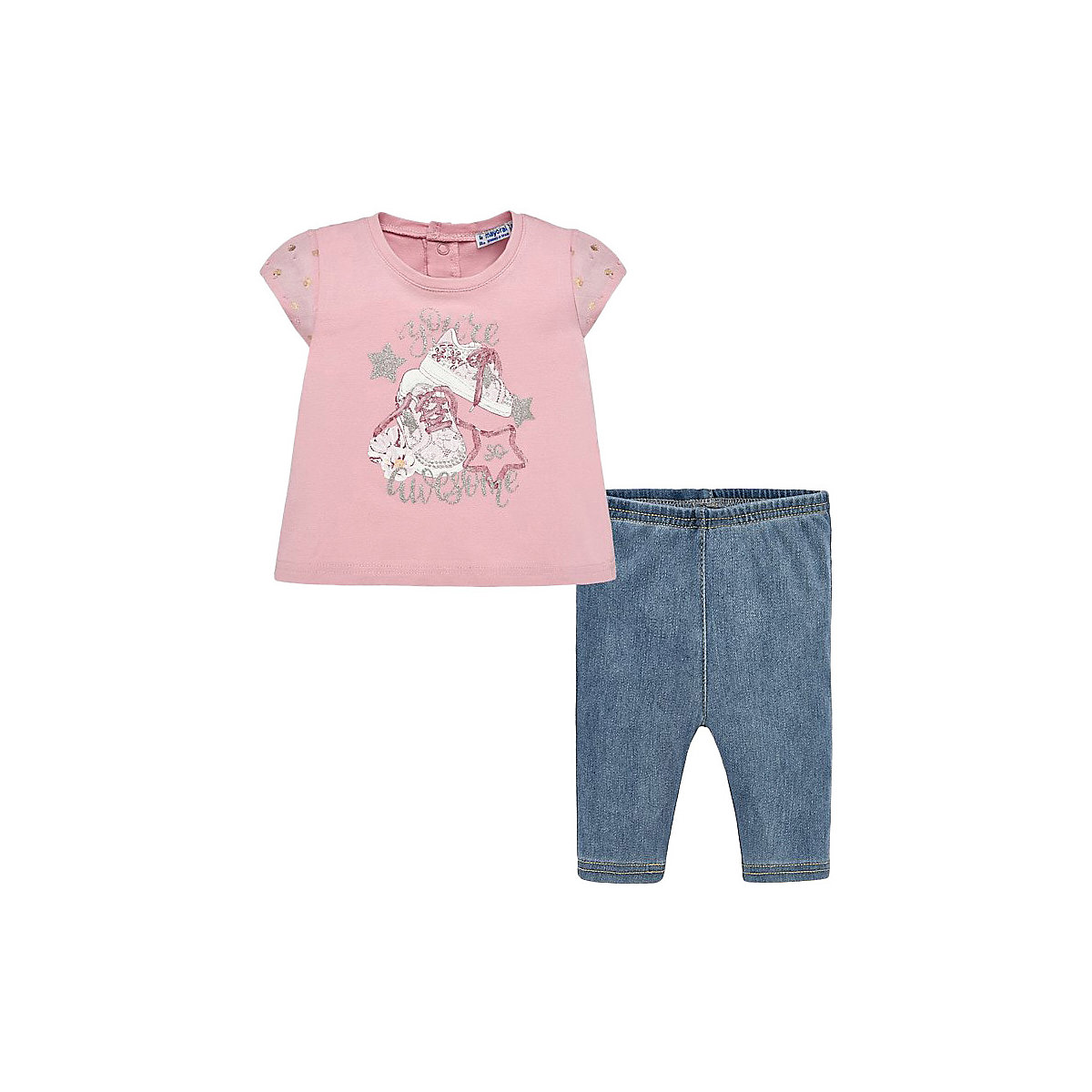 Baby's Sets MAYORAL 10690920 Set Of Clothes For Kids T-shirt Legs Shirt Shorts Girls And Boys