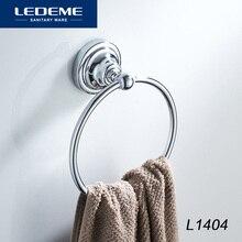 LEDEME Полотенца стойки круглый настенный Полотенца держатель кольца хромированная Нержавеющая сталь Ванная комната Полотенца стойки кольцо L1404