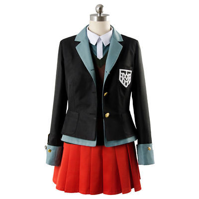 Yumeno Himiko Anime <font><b>Danganronpa</b></font> <font><b>Cosplay</b></font> Halloween Party Man Woman Japanese uniform <font><b>cosplay</b></font> costumes coat+shirt+vest+skirt+hat image