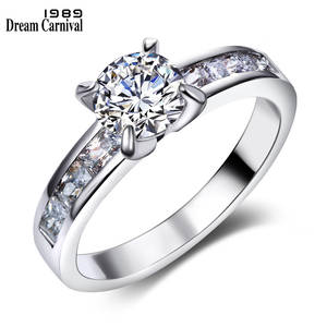 Ring for Women Engagement CZ Wedding Jewelry Color