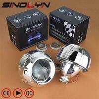 SINOLYN For Peugeot 307 308 408 Headlight 3.0'' HID Bixenon Lens Projector Retrofit W/Bullet Shrouds Headlamp Car Styling Tuning