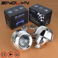 Sinolyn Headlight Lenses For Peugeot 307 408 308 HID Projector Bi-xenon Lens 3.0'' Accessories Retrofit Style Use H1 Xenon Bulbs