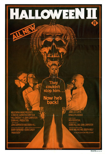 HALLOWEEN II Movie Poster RARE TV Ad Horror-in Painting ...