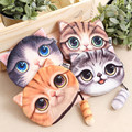 Super cute 3D printed cat plush bag toy,small kat with tail,mobile phone hand bag,plush animal pack best gift for girls kids fun