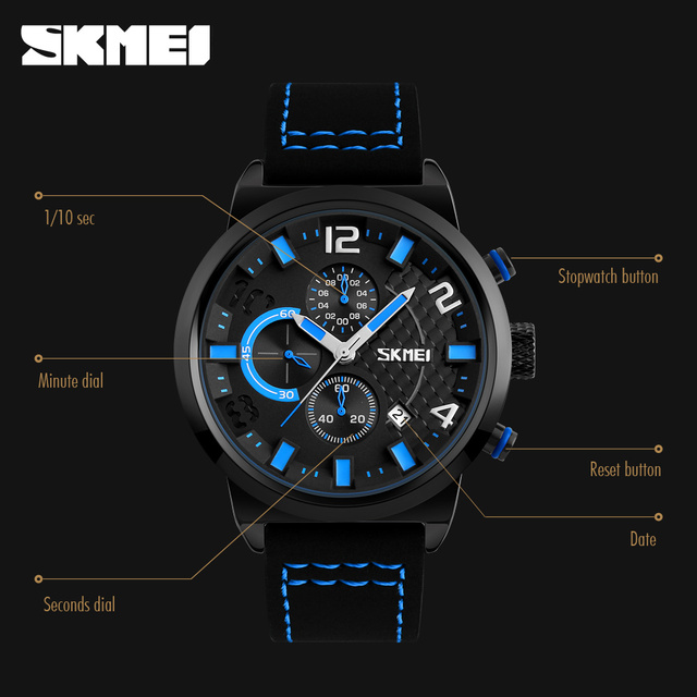 Casual Sport Watches Men Waterproof Quartz Watch 3