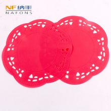 1Pc Hollow Round Shape Silicone Heat Resistant Table Pad Table Mat Coaster Coffee Cup Mats Kitchen Accessories Cooking Tool 1pc round silicone cup mat non slip heat resistant mat coaster bowl coffee cup placemat holder table mat kitchen accessories