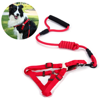 Nylon Puppy Dog Harnesses and Leashes Sets Pet Training Walking Running Halter For Small Medium Large Dogs