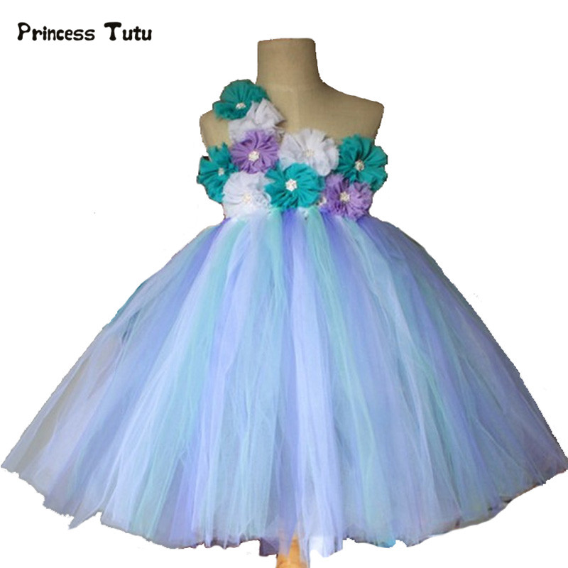 Princess Tutu Cute Girls Tutu Dress Tulle Pageant Wedding Gowns Flower Girl Dresses For Kids Evening Party Dresses Girl Clothes new girls rainbow tutu dress tulle flower girl princess dress girls party wedding prom pageant dresses kids evening gowns
