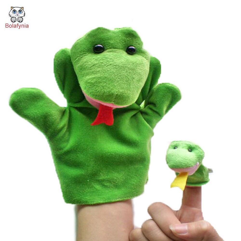 ①Serpiente mano + conjunto de marionetas de dedo niños de peluche ...