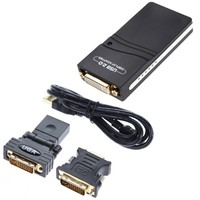 USB 2 0 UGA To DVI VGA HDMI Multi Display Monitor Graphic Converter Adapter For Laptop