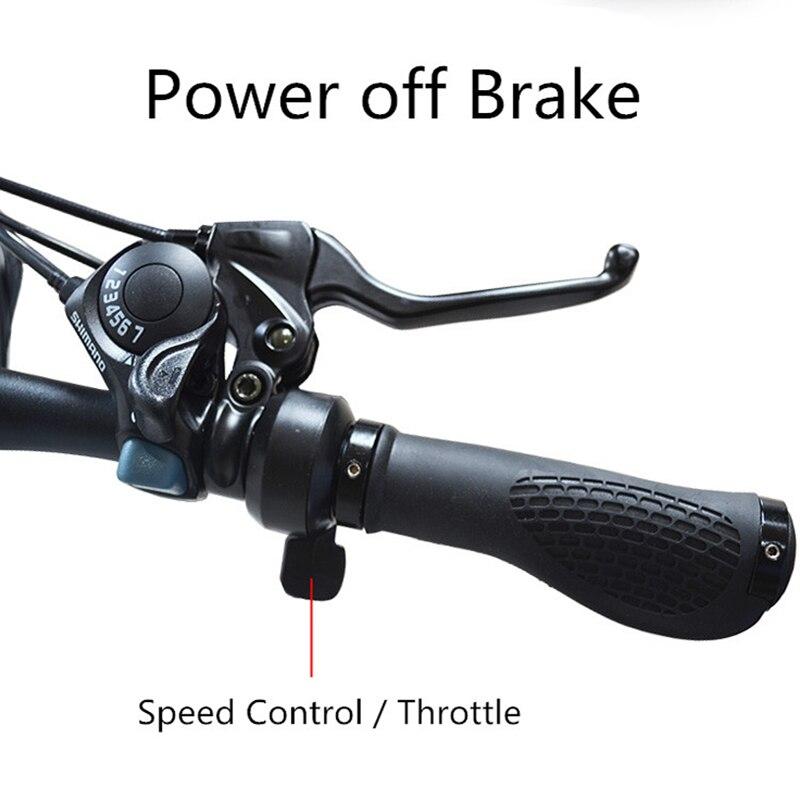26 zoll 7 Geschwindigkeit Elektrische Fahrrad Fett Reifen Elektrische Mountainbike 48V 14Ah 500W EBike Schnee Bike Volle suspension
