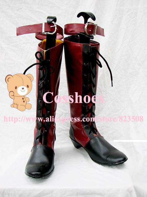 black ciel shoes (red ver) from black butler Kuroshitsuji Cosplay Custom made
