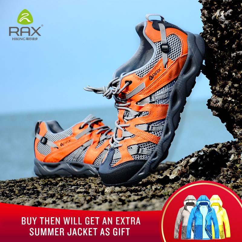 Rax Men Breathable Trekking Aqua Shoes Men Women Water Sports Shoes Summer Hiking Outdoor Sneakers Walking Fishing Shoes Zapatos spring summer water sneakers sandals breathable outdoor mens shoes aqua water sneakers blue fishing shoes men walking sandals