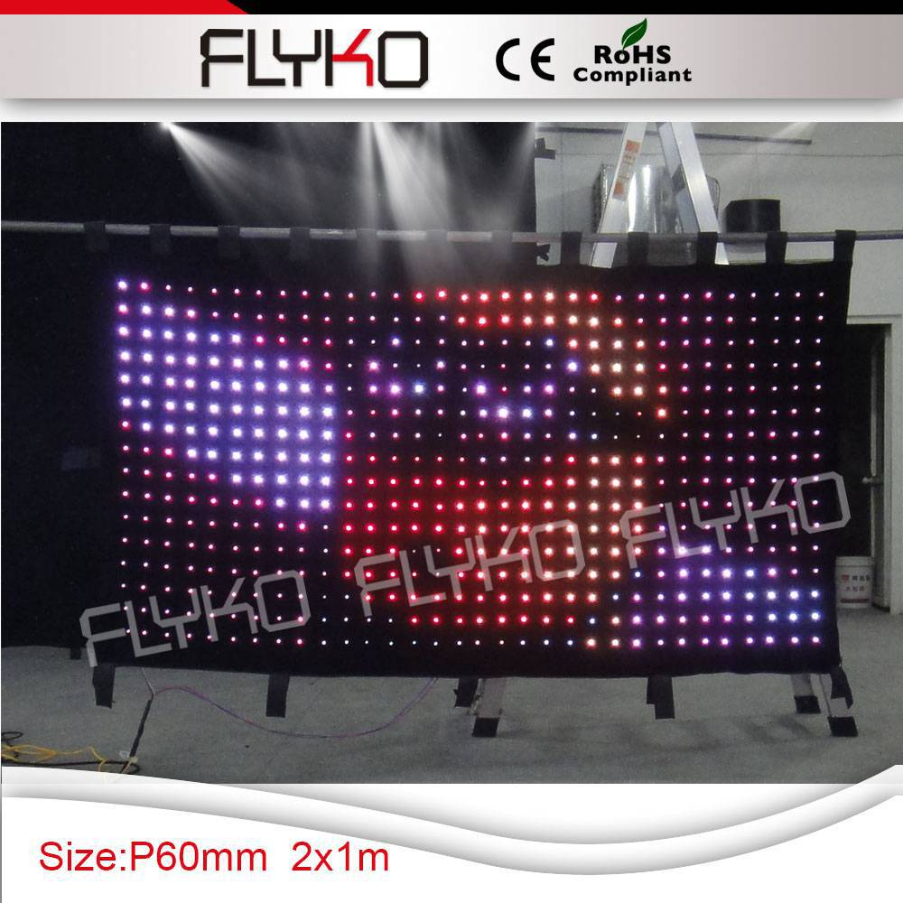 Cheap black stage curtains - Free Shipping Led Light Black Curtain Stage Use Led Video Curtain China Mainland