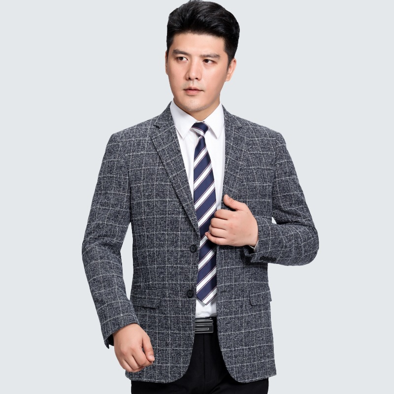 Mens Leisure Suit Jacket 2017 New Men Wool Suit Blazer Single-breasted Business Brand Clothing Men Blazer Plus Size XXXL ...