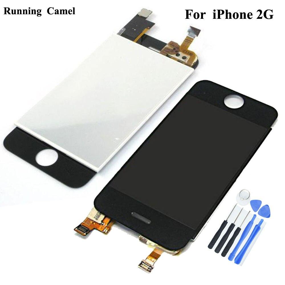 ЖК-дисплей сенсорный экран дигитайзер полная передняя сборка для iPhone г 2G 1-го поколения