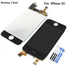 LCD מסך תצוגת מסך מגע Digitizer הרכבה קדמית מלאה עבור iPhone 2G 1st דור