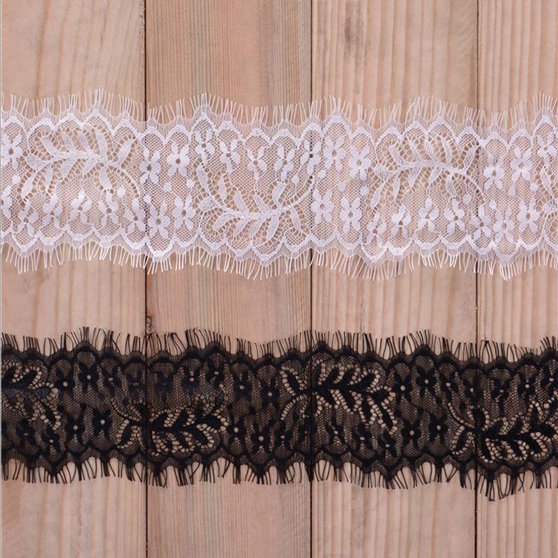 Čipke tkanine trepalnic list bele črne čipke obloge pomožne snovi - Umetnost, obrt in šivanje