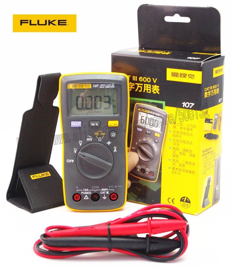 Fluke 107 Palm sized portable handheld Digital Multimeter Meter F107