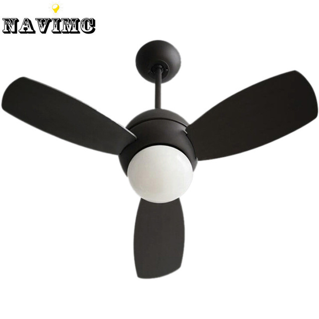 vintage ceiling fan with light and remote control industrial lighting restaurant living room black ceiling fan - Remote Control Ceiling Fans