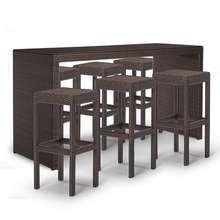 Поли мебель для бара из ротанга Палермо бар-высота сидения баров и набор табуретов