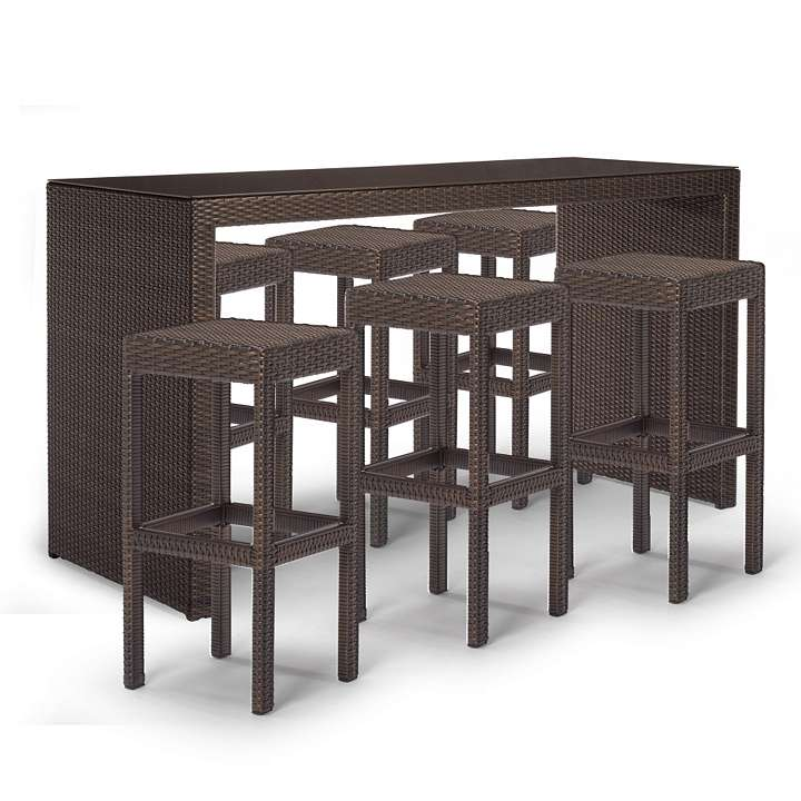 Poly Rattan Bar Furniture Palermo Bar height Seating Bars ...