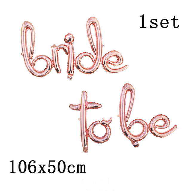 Chicinlife 1Set Bride to Be Confetti Balloon Bridesmaid Wedding  Bridal Shower Hen Night Bachelorette Party Decorations Supplies
