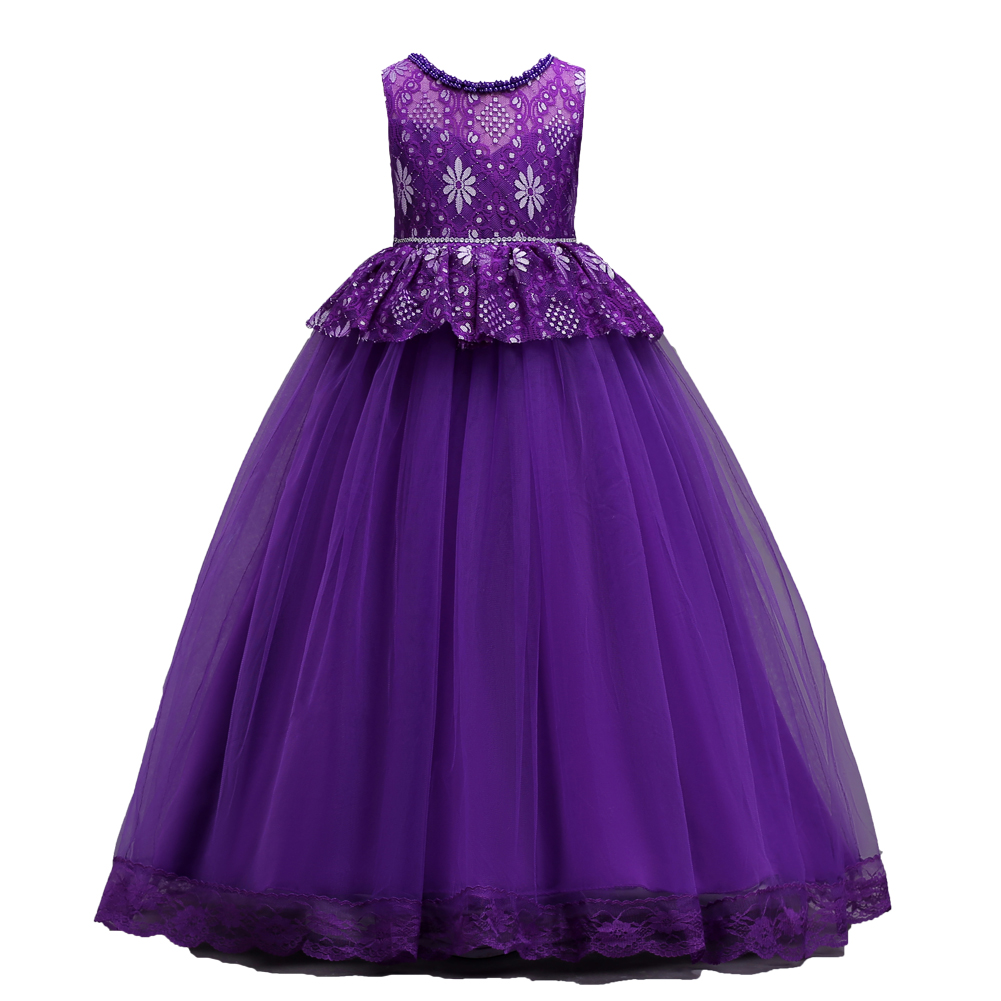 Shiny Toddler Little Big Girls Princess Birthday Party Ball Gown Floor Length Lace Beaded Pageant Flower Girls Long Purple Dress women parka winter jacket plus size 2017 down cotton padded coat loose fur collar hooded thick warm long overcoat female qw670