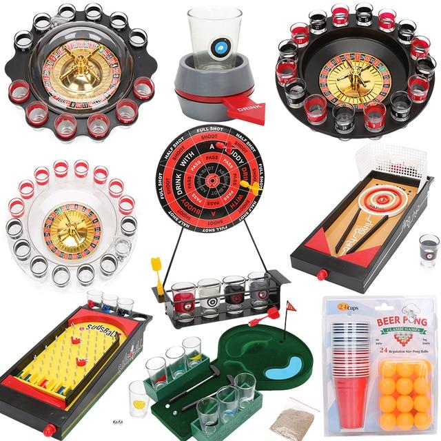 buy beer pong balls set roulette wheel drinking games drunken tower shot glass. Black Bedroom Furniture Sets. Home Design Ideas