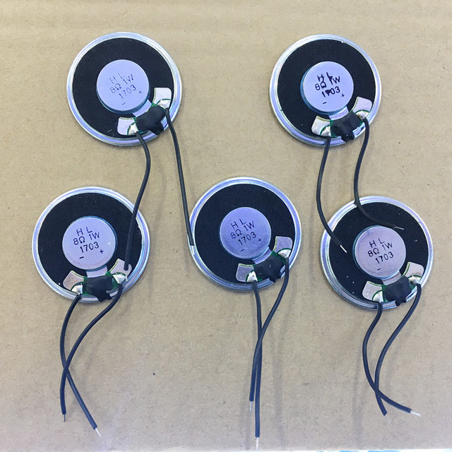 5X loudspeaker buzzer 8ohm 1w 36mm for Baofeng BF888S BF777S BF666S etc walkie talkie replacement accessory