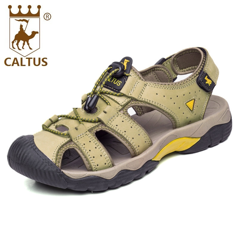 Caltus Men Sandals 2017 Soft Footwear Classic Men Flats Genuine Leather All Match Casual Shoes AA50127 caltus male casual shoes soft footwear classic genuine leather men platform flats good quality working shoes size 38 44 aa20537