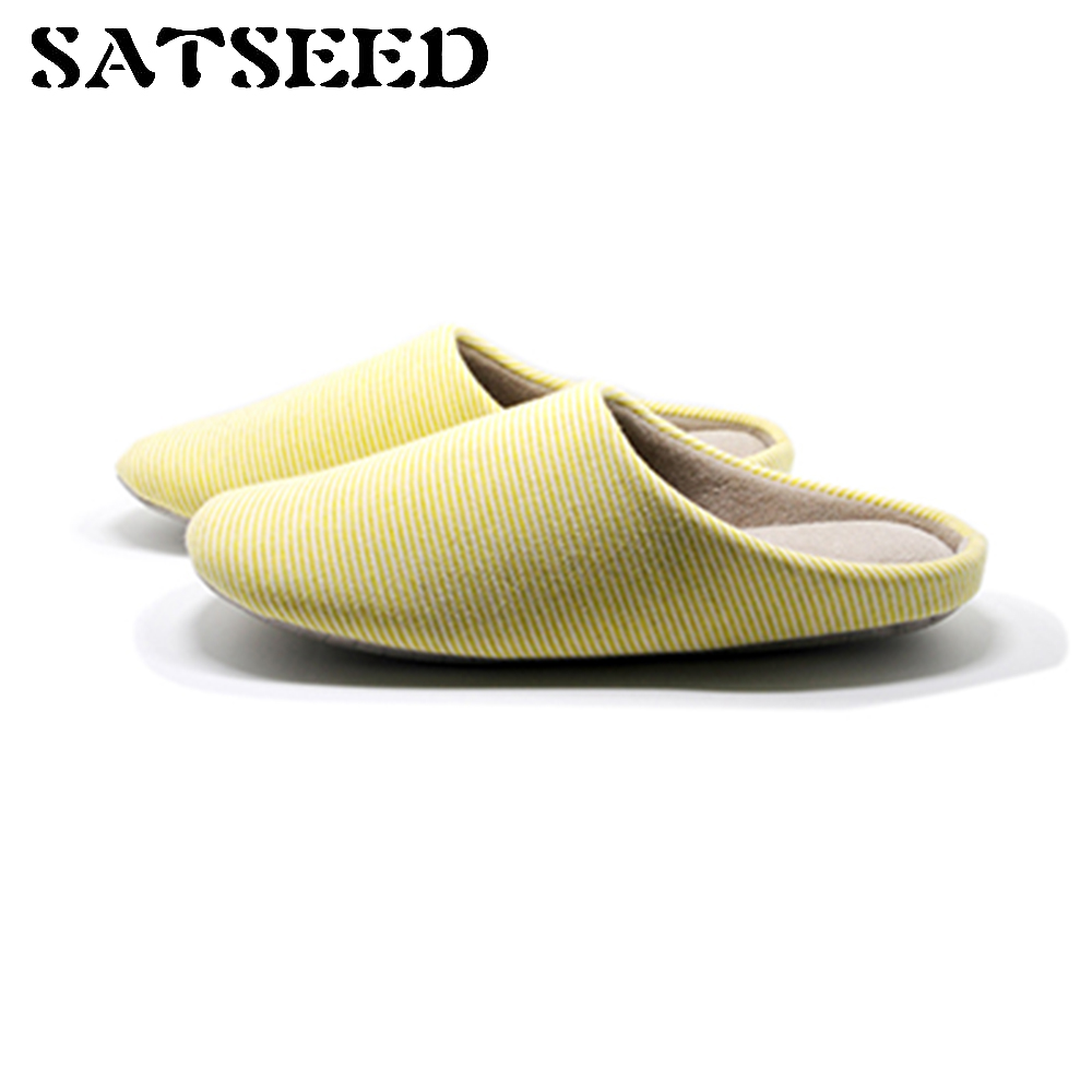 New Autumn Winter Couple Stripe Slippers Home Slippers Furnishing Soft Bottom Home Shoes Warm Indoor Shoes Casual Shoes men winter soft slippers plush male home shoes indoor man warm slippers shoes