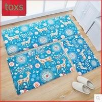 Bathroom doormat waste absorbing slip resistant pad slitless carpet mats mat 3pieces per set